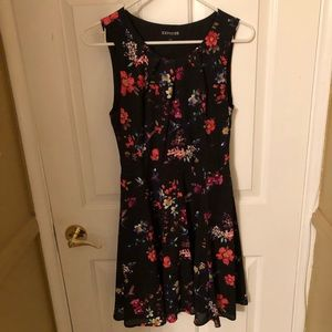 Floral and Black Dress